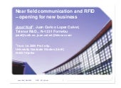 Near field communication and RFID -...