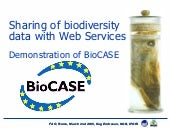 BioCASE web services for germplasm ...