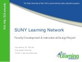 SLN faculty development report: Spr...