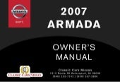 2007 ARMADA OWNER'S MANUAL