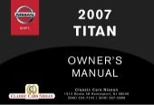 2007 TITAN OWNER'S MANUAL