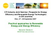 Practical approaches to Renewable E...