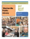 Annual Report 2007: Westerville Library