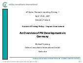 PSI Developments in Germany - Prici...