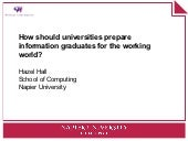 How should universities prepare inf...