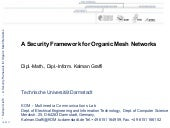 Security Mechanisms for Organic Mes...
