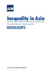 Key Indicators 2007: Inequality in ...