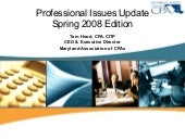 2008 Professional Issues Update