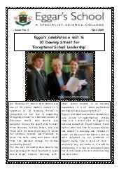 April 2008 School Newsletter