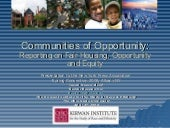 Communities of Opportunity: Reporti...