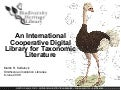 An International Cooperative Digital Library for Taxonomic Literature: The Biodiversity Heritage Library