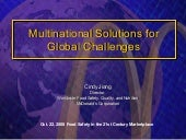 Multinational Solutions for Global ...