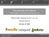 Using Moodle with Mahara