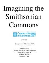 """Imagining a Smithsonian Commons"" C..."