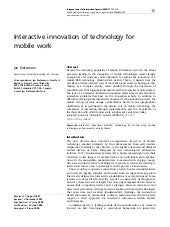 Interactive Innovation of Technolog...