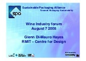 2008 Sustainable Packaging Alliance...