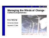 Managing the Winds of Change – Cali...