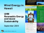 Wind Energy in Hawaii