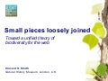 Small pieces loosely joined: towards a unified theory of biodiversity for the web.