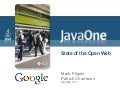 2009 Java One State Of The Open Web