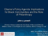 Obama's Policy Agenda: Implications...