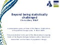 Beyond being statistically challenged: How do we move the equalities agenda forward?