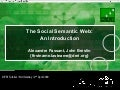 The Social Semantic Web: An Introduction