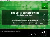 The Social Semantic Web: An Introdu...