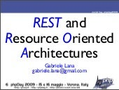 Resource Oriented Architectures
