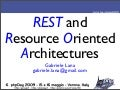 REST e Resource Oriented Architectures