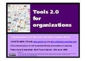 Tools 2.0 for organizations