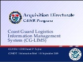 Coast Guard Logistics Information M...