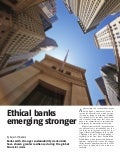 Ethical banks  emerging stronger