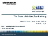 The State of Online Fundraising