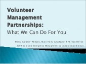 2009 Mema Volunteer Management Part...