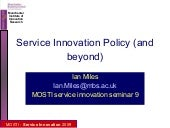 Service Innovation - Strategy and P...