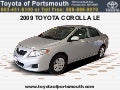 Used 2009 Toyota Corolla LE - Portsmouth NH Toyota Dealer