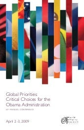 WorldAffairs 2009: Global Prioritie...