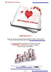 200 Citations d'amour