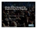 Model-Driven Research in Social Computing