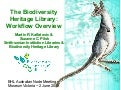 The Biodiversity Heritage Library: Workflow Overview
