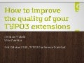 How to improve the quality of your TYPO3 extensions