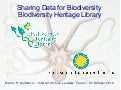 Sharing Data for Biodiversity: The Biodiversity Heritage Library