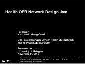 2010.11.11 Health OER Network Desig...