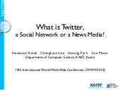 What is Twitter, a Social Network o...