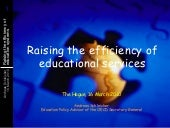 Improving the efficiency in education