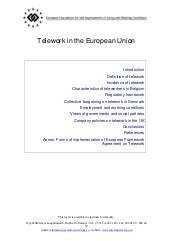 Telework In The European Union