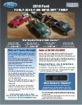 Raleigh Ford Dealer's 2010 Ford Superduty Truck Towing guide specifications capabilities Brochure