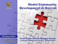 Model Community Development di Daerah