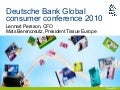 SCA presentation at Deutsche Bank Consumer Goods Conference, Paris, France